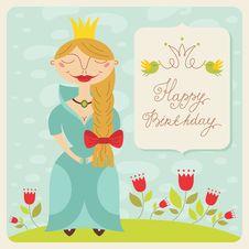 Free Happy Birthday Princess Card Stock Photos - 33809833