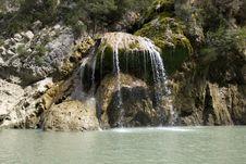Cascade, Gorges De Verdon, France Stock Image
