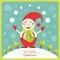 Free Cute Christmas Card With Snowman Stock Photos - 33809903