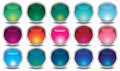 Free Set Of Colored Web Buttons Stock Photography - 33813022