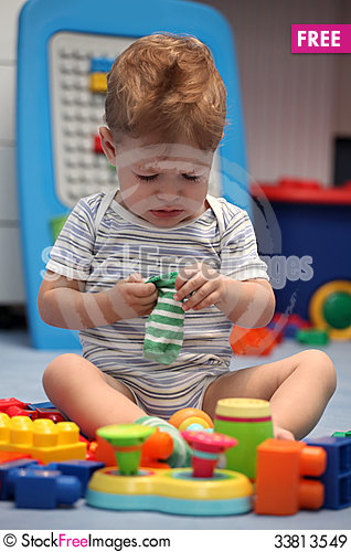 Free A Baby Boy Crying In Children Room Royalty Free Stock Images - 33813549