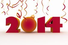 Free 2014 Year Royalty Free Stock Image - 33812256