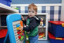 A Baby Boy Playing Royalty Free Stock Image