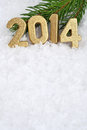 Free 2014 Year Golden Figures Stock Photo - 33821600