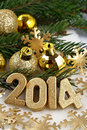 Free 2014 Year Golden Figures Stock Photos - 33821803
