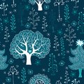 Free Cute Winter Forest Seamless Pattern Stock Photography - 33826102