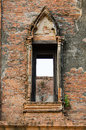 Free Ruin Opening Windows At Maheyong Ancient Temple, Ayutthaya, Thai Stock Photography - 33829102