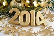 Free 2014 Year Golden Figures Stock Photo - 33821780
