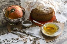 Free A Cake Made of Maize Flour. Retro Style. Royalty Free Stock Photos - 33823888