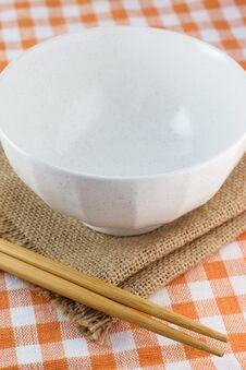 Free Bowl And Chopsticks Stock Photo - 33826930