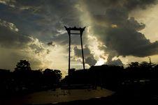 Free Giant Swing In Bangkok. Royalty Free Stock Images - 33827109