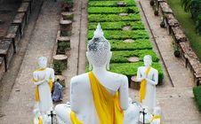Free Back Of Big Buddha At Old Temple Wat Yai Chai Mongkhon, Ayuthaya Stock Photos - 33828073