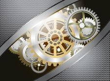 Glossy Metallic Gears Royalty Free Stock Images