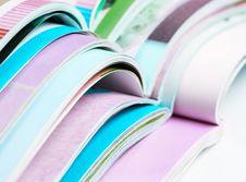 Free Pile Of Opened Magazines Royalty Free Stock Photography - 33829847