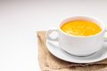 Free Pumpkin Soup At Old Rustic  Fabric Royalty Free Stock Images - 33830719