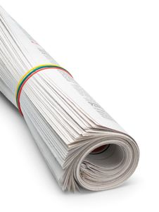 Free Roll Of Newspapers Stock Images - 33849124