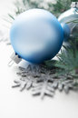 Free Blue And Silver Xmas Decorations Royalty Free Stock Photos - 33851588