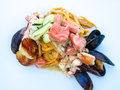 Free Pasta With Seafood Stock Photo - 33856070