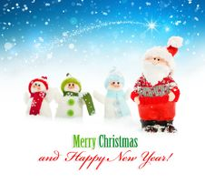 Free Santa And Snowmen Stock Photography - 33851272