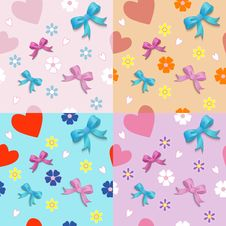 Free Seamless With Bows Stock Image - 33851671