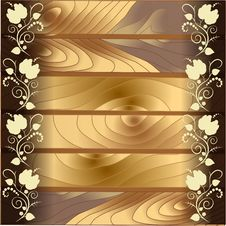 Free The Pattern On The Wood Background Royalty Free Stock Photo - 33851695
