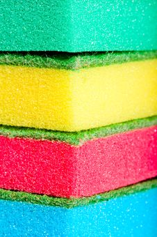 Close-up Sponges For Washing Dishes Royalty Free Stock Images