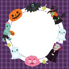 Free Halloween Frame Royalty Free Stock Images - 33853669