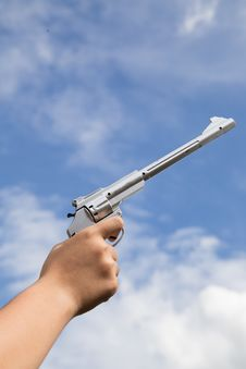Free Gun In Hand Royalty Free Stock Photo - 33856845