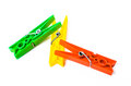 Free Colorful Clothespins - Isolated - Jamaican Flag Stock Photography - 33860702