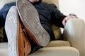 Free Man Lounging Stock Image - 33861381