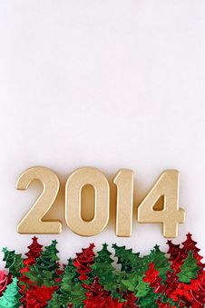 Free 2014 Year Golden Figures Stock Photo - 33861460