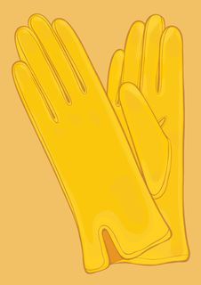 Pair Of Yellow Gloves Stock Photography