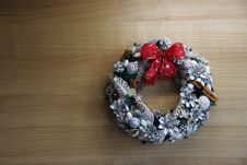 Free Christmas Wreath For The Wall Or Door. Stock Images - 33862474