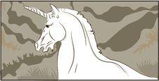 Unicorn Head Royalty Free Stock Photos