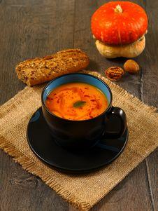 Free Pumpkin Soup Royalty Free Stock Photos - 33869928