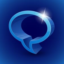 Free Chat Bubble Symbol On Blue Background Royalty Free Stock Photo - 33873675