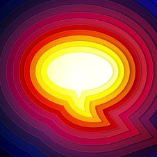 Free Rainbow Paper Layers Chat Bubble Symbol Royalty Free Stock Photography - 33873677