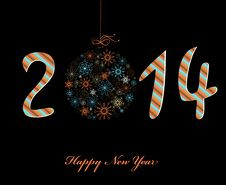 Free Happy New Year Greeting Card. Stock Image - 33879361