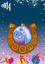 Free Christmas Background With Balls And A Horseshoe Stock Images - 33884874