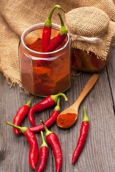 Free Chili Peppers Royalty Free Stock Photography - 33881417