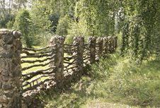 Old Fence. Stock Photo