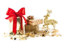 Free Christmas Decoration With Gifts Stock Images - 33883194