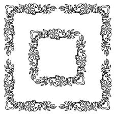Free Floral Ornament Frame Royalty Free Stock Images - 33884969