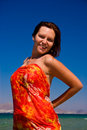 Free Women In Pareo On Holidays Royalty Free Stock Photography - 3394847