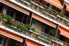 Free Flower Balconies - Spain Stock Images - 3390174