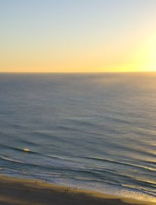 Free Aerial View Sunrise Over Ocean Stock Images - 3390454