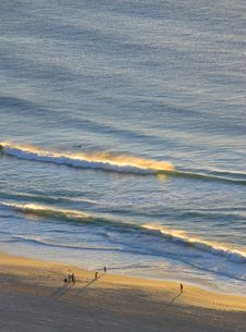 Free Early Morning Surf From Above Royalty Free Stock Photography - 3390467