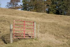 Free Red Gate Royalty Free Stock Photo - 3391835