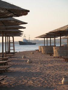 Free Beach, Ship Stock Photos - 3392123