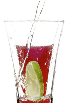 Free Glass With Juice And Lime Stock Photo - 3393150